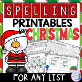 Spelling Activities for Christmas to fit any word list