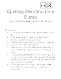 Spelling Practice Dice Game