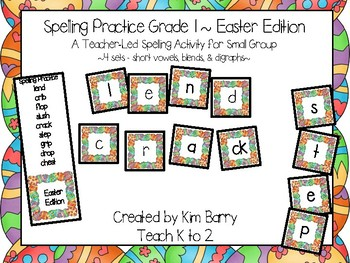 Spelling Practice Easter Edition/Reading/Blending Words/Phonics/Easter Activity