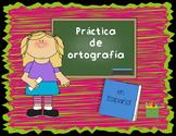 Spelling Practice En Español Practica de ortografía
