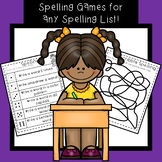 Spelling Practice First Grade FREE