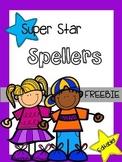 Spelling Practice Freebie - Super Star Spellers