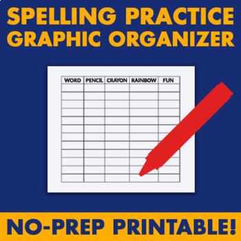 Spelling Practice Graphic Organizer