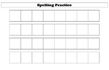 Spelling Practice- Hands On