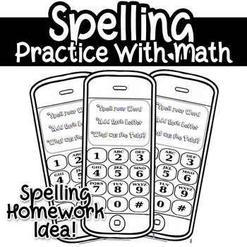 Spelling Practice Homework with Math