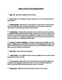 Spelling Practice Ideas