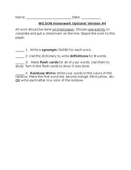 Spelling Practice Options