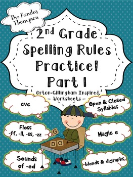 2nd Grade Spelling Rules Practice Part 1: Orton-Gillingham