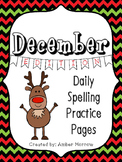 Spelling Practice Pages: December Edition