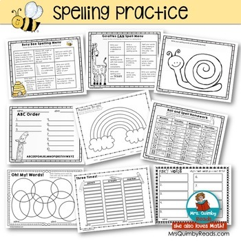 Spelling Practice Pages |  For ANY Word List | Word Work