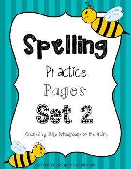 Spelling Practice Pages Set 2