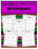 Spelling Practice Printables:  CVC, CVCe, CVVC, CCVC Spelling Patterns