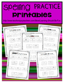 Spelling Practice Printables:  CVC, CVCe, CVVC, CCVC Spell