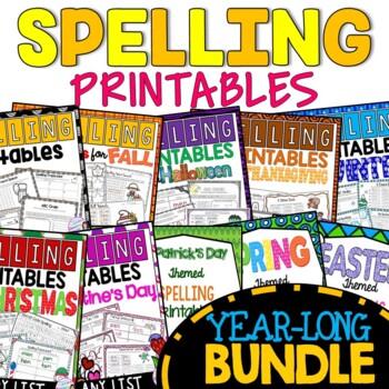 Spelling Practice Printables MEGA BUNDLE
