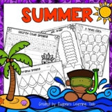 Spelling Practice Printables Summer Themed