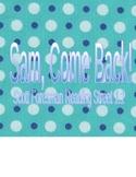 Sam Come Back - Scott Foresman Spelling Practice Grade 1