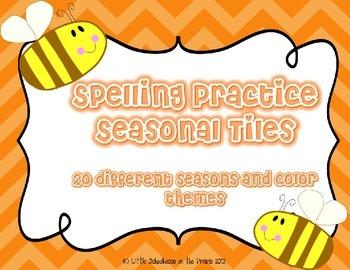 Spelling Practice Seasonal Tiles - Great for ANY list