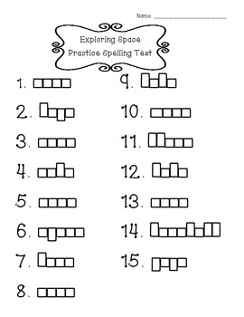 Spelling Practice Sheets Reading Street 2013 Grade 2, Unit 1