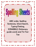 Spelling Practice Sheets (blank)