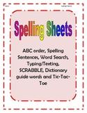 Spelling Practice Sheets (blank)