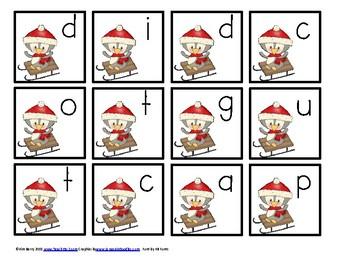 Spelling Practice - Winter Penguin Edition Grade K