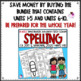Spelling Word Work for use with Benchmark Advance Units 1-5 First Grade