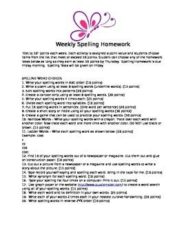 Spelling Practice Work