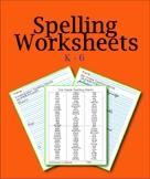 Spelling Practice Worksheets PDF