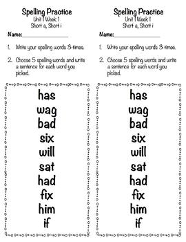 Applied Spelling Tests and Practice (2 Week Freebie)