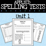 Spelling Activities and Tests for 2nd Grade - Unit 1