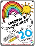 Spelling Practice and Word Work Daily No Prep Activities