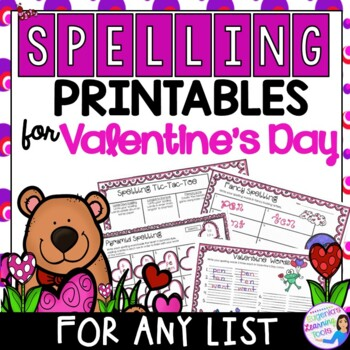 Spelling Activities and Practice for Valentine's Day, to f