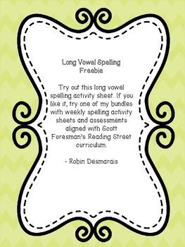 Long Vowel Spelling Practice for Reading Street 3.1.4