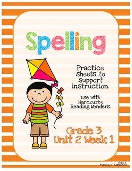 Spelling Practice for Reading Wonders - Grade 3 Unit 2 Week 1