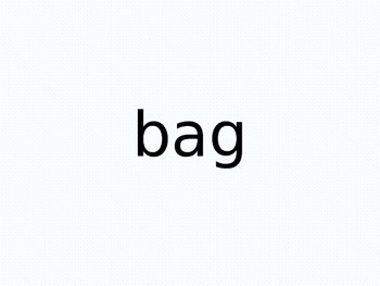 """Spelling Practice for Trophies Series """"Sam and The Bag"""""""