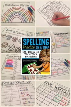 Spelling Practice in a Snap BUNDLE