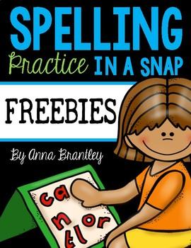 Spelling Practice in a Snap Freebies