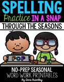 Spelling Practice in a Snap Through the Seasons