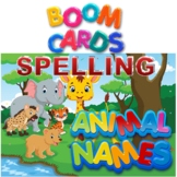 BOOM Cards Spelling Practice with Audio-26 Animal Names A to Z
