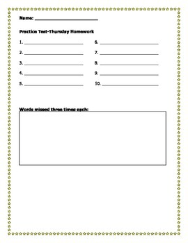 Spelling Practice worksheets Part 2