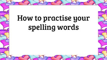 Spelling Practise!
