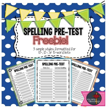 Spelling Pre-Test Form