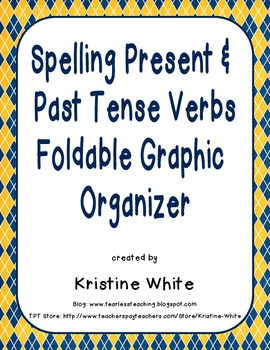 spelling present and past tense verbs foldable graphic organizer. Black Bedroom Furniture Sets. Home Design Ideas