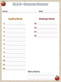 Spelling Pretest & Test Templates (ELA 2 - Reading Street)