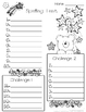 Spelling Pretest and Test Paper! Bear and stars theme.