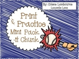 Spelling Print and Practice -it Family Chunk Mini Packet