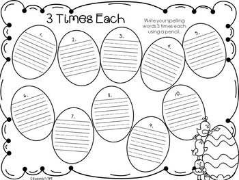 Spelling Practice Printables Easter Themed