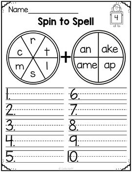 Spelling Printables - Long Vowels (CVCe) and Digraphs
