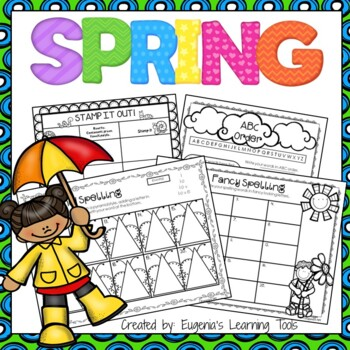 Spelling Practice Printables for Spring