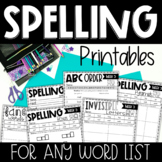 Spelling Printables for ANY List {Practice Pages for 5, 10, or 20 Word Lists}